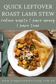 A warming lamb stew can be on the table in under half an hour when you use leftover roast lamb. Waste less by enjoying reimagined leftovers. #leftovers Leftover Lamb Recipes, Leftover Roast Lamb, Leftovers Recipes, Dinner Recipes, Lamb Roast Recipe, Roast Recipes, Frugal Recipes, Frugal Meals, Lamb Stew
