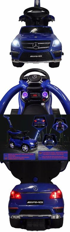Luxury Cars: Luxury Mercedes Gl63 Convertible Ride-On Push-Car Chair Leather Seat Blue -> BUY IT NOW ONLY: $97.95 on eBay!