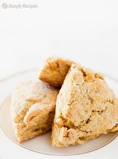 Ginger Scones ~ Super gingery buttermilk scones, made with both candied and fresh ginger, with a hint of lemon. ~ SimplyRecipes.com
