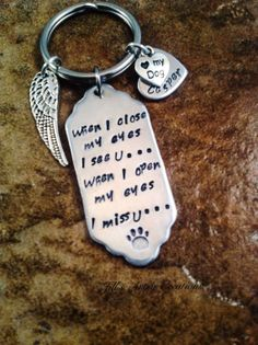 Personalized Pet Loss Keychain In Memory Of by JillsArtsyCreations, $22.00