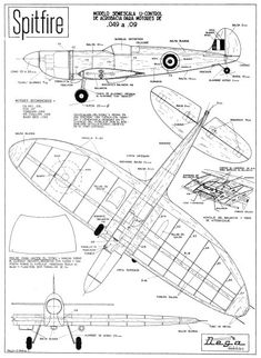 Image result for foam airplane template with ailerons