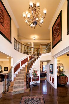 Toll Brothers 2-Story Foyer with Turned Staircase