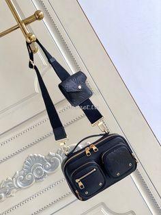 Buy High Quality Replica Louis Vuitton LV Utility Crossbody M80450 Black Calfskin Black Louis Vuitton, Louis Vuitton Belt, Louis Vuitton Handbags, Chanel Backpack, Chanel Purse, Chanel Bags, Gucci Bags, Dior Bags, Hermes Bags