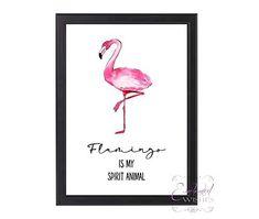 Flamingo Spirit Animal Print, Flamingo Quote Wall Art, Unframed Flamingo Gifts, Flamingo Art, Quote Prints, Wall Art Prints, Wall Art Quotes, Quote Wall, Personalised Prints, Animal Posters, My Spirit Animal