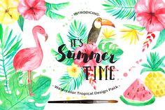 Summer Tropical Design Pack Vol.2 by LarysaZabrotskaya on @creativemarket