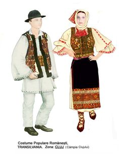 Popular Folk Embroidery Romanian national dress of the Transylvania region. Folk Embroidery, Learn Embroidery, Embroidery Stitches, Embroidery Patterns, Machine Embroidery, Folk Costume, Costumes, Antique Quilts, Dark Ages