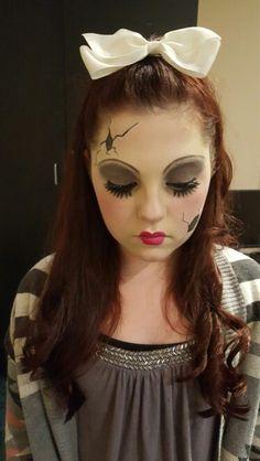 Cracked Porcelain doll makeup