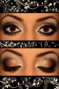 Close-up portrait of beautiful girl's eye-zone