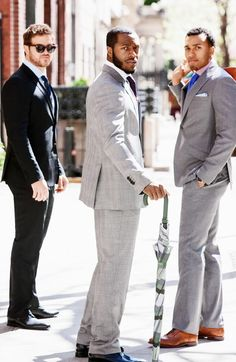 Men in suits just stylin'  #menslifestyle #greysuits #mensfashion