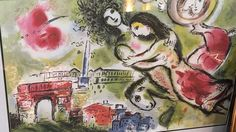 View Romeo and Juliette By Marc Chagall; 58 x cm; Access more artwork lots and estimated & realized auction prices on MutualArt. Paris Painting, Painting Prints, Fine Art Prints, Canvas Prints, Marc Chagall, Chagall Paintings, Hope Art, Art Commerce, Star Wars