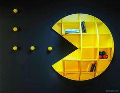 Quarto de menino - tema Pacman - estante