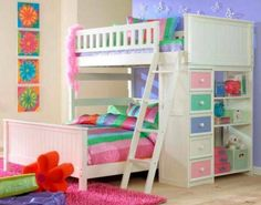 Perfect for sisters sharing a bedroom.