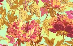 Saffron Twilight Peony, Amy Butler Soul Blossom by Westminster Fabrics
