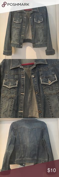 Petrol Denim Jacket Very cute! Gently used. Soft denim. Petrol Jackets & Coats Jean Jackets