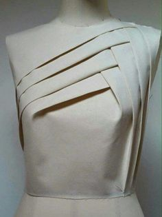 Geometric design using draping technique for bodice