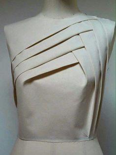 Geometric design using draping technique for bodice