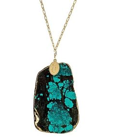 turquoise and black stone