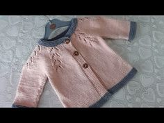 Knitted Baby Cardigan, Baby Knitting, Crochet Baby, Youtube, Pullover, Sweaters, Tops, Fashion, Cute Things