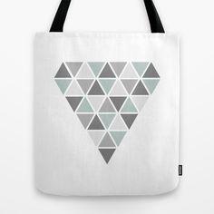 Geometric tote bag, diamond design on society6 by Limitation Free #society6