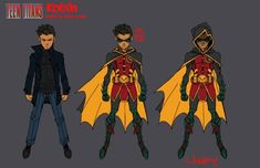 The Teen Titans artist discusses bringing the team into DC Comics' Rebirth era, and shares an exclusive look at his concept art. Superhero Characters, Dc Comics Characters, Dc Comics Art, Marvel Dc Comics, Titans Rebirth, Dc Rebirth, Damian Wayne, Comic Character, Character Design