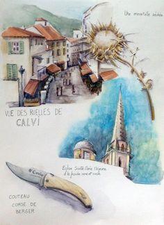 Calvi en Corse vue de la chapelle Notre Dame de la Serra Calvi, capital de la Balagne avec sa citadelle Genoise du 16e sicècle. Il fait pa...