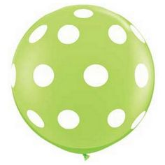 "36"" Polka Dot Round Balloon - Lime Green from The TomKat Studio Shop www.shoptomkat.com"