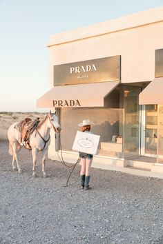 The unexpected pairing of rural countryside with lavish luxury is celebrated in WINDOW SHOPPING VERTICAL, PRADA MARFA from Gray's Prada Marfa series, showcasing the beloved exhibit by artists Elmgreen and Dragset and shot on location in Marfa, Texas. Cream Aesthetic, Boujee Aesthetic, Brown Aesthetic, Aesthetic Collage, Aesthetic Vintage, Aesthetic Photo, Aesthetic Pictures, Aesthetic Fashion, Prada Marfa