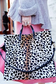 Spring Fling with Clare V Simple tote in leopard via @roztayger com com