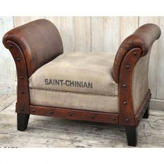 BUY 1 GET 1 FREE SAINT CHINIAN VINTAGE SEAT  Think of a French vineyard, green and prosperous. Think of rich culture layered with history. Now think of our Saint-Chinian seat inspired by this unique village in the south of France. The utmost importance was put into detailing this fine piece of furniture; slightly curved arms perfectly align with mango timber legs, and large bold stitching was sewn into the rare form of recycled canvas.