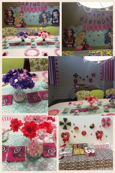 Ever after high party decoration