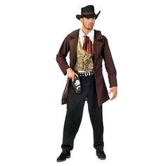 Traje de vaquero del lejano oeste para hombre