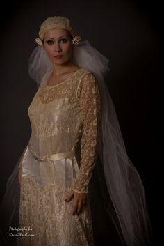 vintage wedding dress 1920