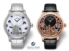 Jaquet Droz Petite Heure Minute Relief Goats for Chinese New Year Zodiac Watches, Arnold Son, Animal Articles, Most Popular Watches, Watch Blog, Vacheron Constantin, Art Watch, Happy Chinese New Year, Art Model