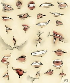 Mouth Practice by - Best Picture For dessin croquis anim Art Poses, Drawing Poses, Manga Drawing, Drawing Tips, Drawing Ideas, Drawing Hair, Drawing Clothes, Anime Mouth Drawing, Drawing Practice