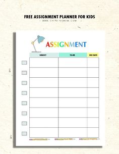 Planner Printables for Kids   Planners & Printables   Kids ...