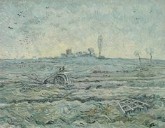 Snow-Covered Field with a Harrow (after Millet), 1890, Vincent van Gogh, Van Gogh Museum, Amsterdam (Vincent van Gogh Foundation)