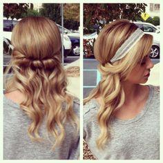 headband hairstyles pinterest - Google Search