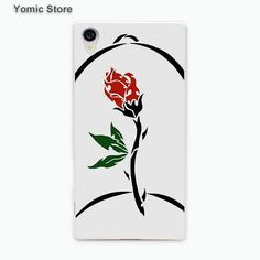Beauty And The Beast stained glass beauty and the beast rose phone case cover for Sony Xperia z5 z4 z3 z2 z1 M5 M4 Aqua XA