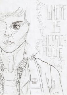 Jessica Hyde (Utopia) pencil - Antonio Marusso
