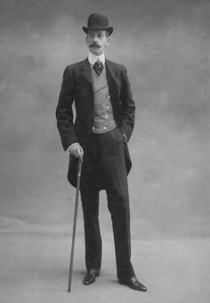 Vintage Photos of Dapper Men from the Victorian Era 1889 Victorian Mens Fashion, 1900s Fashion, Vintage Fashion, Victorian Mens Clothing, Vogue Fashion, Men's Fashion, 19 Century Fashion, Victorian Outfits, Fashion Women