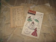 Doll Clothes PATTERN ORIGINAL for Saucy Walker Susan Stroller Poise by Ideal #Butterick