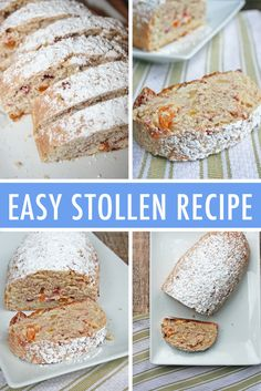 Food Photography: A Simple Homemade Stollen Holiday Bread Recipe Easy Stollen Recipe, Christmas Stollen Recipe, Recipe For German Stollen, Christmas Recipes, Christmas Foods, Christmas Holiday, Easy Christmas Dinner, Christmas Baking, Xmas