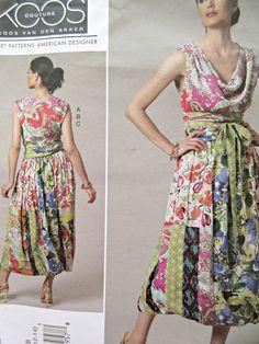 Vogue 1244 Sewing Pattern, Koos Van Den Akker Design, Cowl Neck Top, Bubble Skirt, Bust 31.5 to 36, Vogue American Designer, 2011 Pattern by sewbettyanddot on Etsy