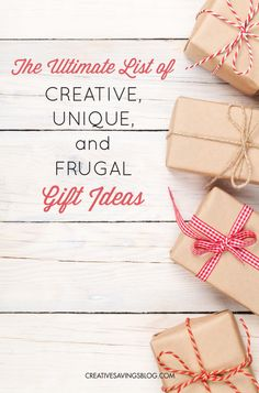 This collection of creative, unique, and frugal gift ideas uses all my gift-giving tips in a practical and budget-friendly way. Every gift is hand-selected according to personality type and theme, which means you can be sure to find a gift that's just as unique as your recipient!