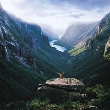 vhord: dreamingofcastles: Western Brook Pond Fjord, Gros Morne National Park (by Newfoundland and Labrador Tourism) strictly nature Mostly nature Oh The Places You'll Go, Places To Travel, Travel Destinations, Places To Visit, Vacation Travel, Adventure Awaits, Adventure Travel, Adventure Holiday, Gros Morne