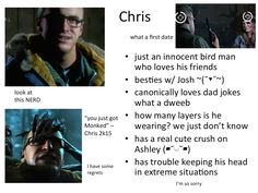 Chris from Until Dawn Love Dad, My Love, Until Dawn Game, Dark Pictures, Butterfly Effect, Life Is Strange, Dad Jokes, Fandoms, Videogames