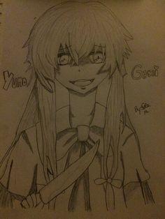 My drawing of yuno Gasai <3