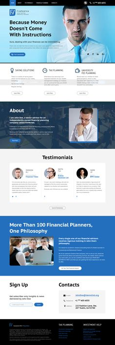 208 best landing page templates images on pinterest page template financial advisor landing page template on behance friedricerecipe Image collections