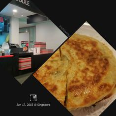 #FD1506 #ChineseFood  食阁里,居然有葱油饼卖,虽然不怎么正宗,虽然有点贵,嘴馋的我还是买了吃。
