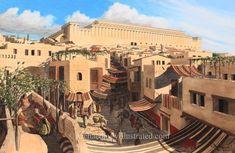 Jerusalem, Main Street, 1st century AD looking north towards the Temple Mount